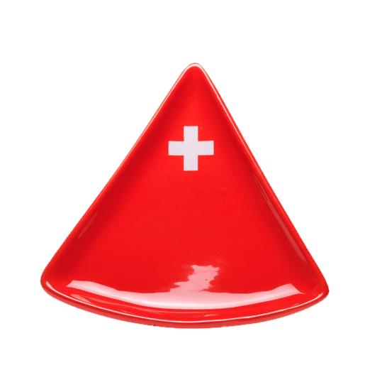 Популярное оборудование в швейцарском магазине Le Komora - Тарелка для фондю «Schweizerkreuz»
