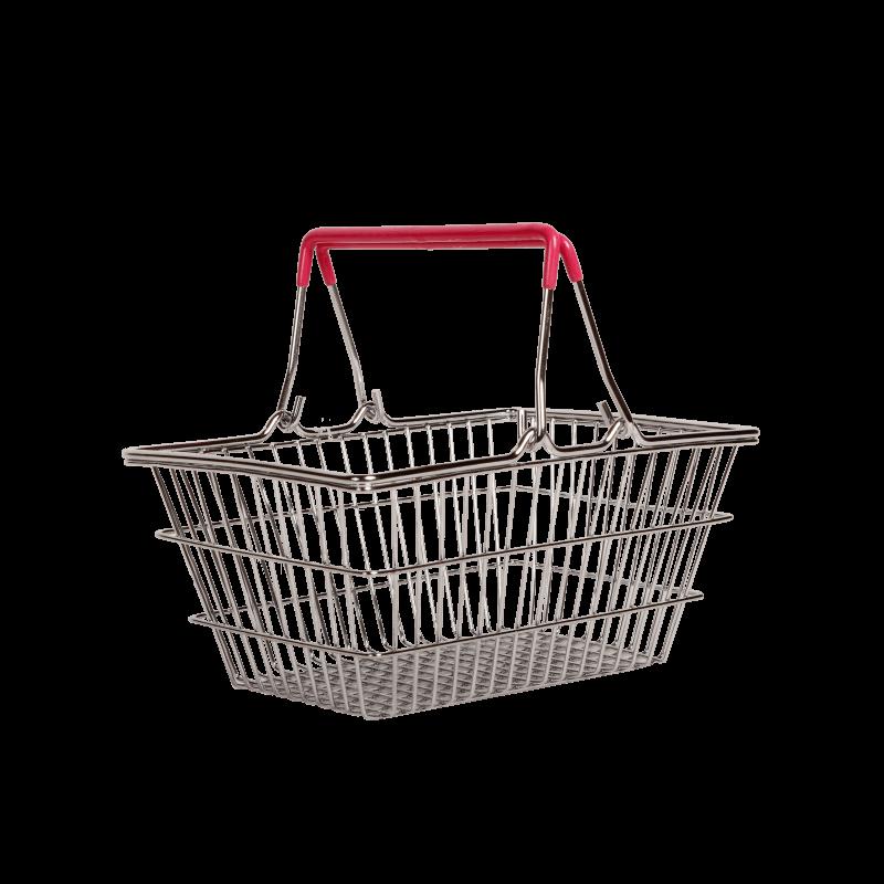 """Кошик для фруктів хромований """"Basket"""" рожевий 23x15,5x8,3cm"""