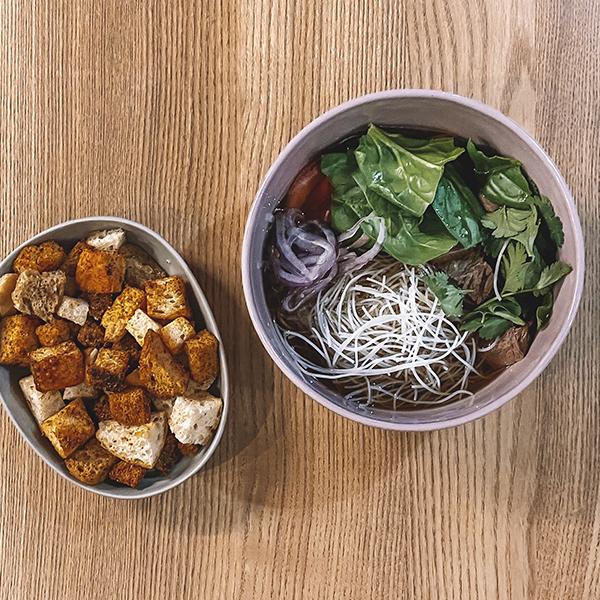 Суп із телятини з рисовою локшиною, 250г