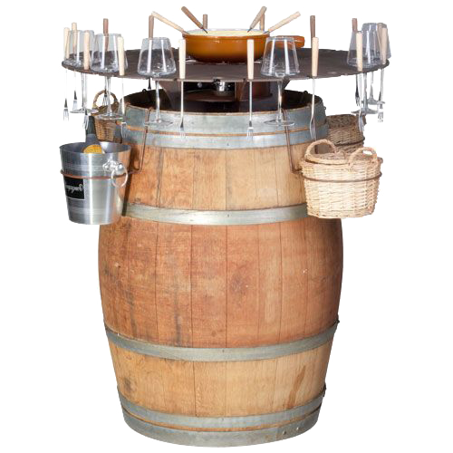 Бочка-бар для фондю та вина 92x92x105cm