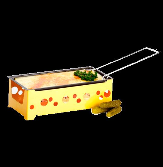 """Мини раклетница """"H'eat Cheese"""", 4 свечи, желтая"""