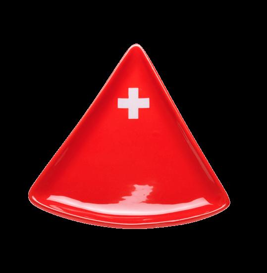"""Тарелка для фондю, """"Schweizerkreuz"""", конусобразная, красная, 20 x 20 x 2см"""