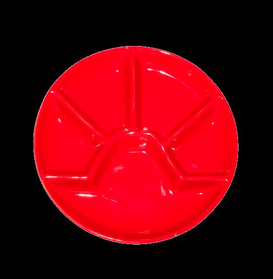"""Тарелка для фондю круглая """"Racly"""", красная 23 х 23 х 2,5 см"""