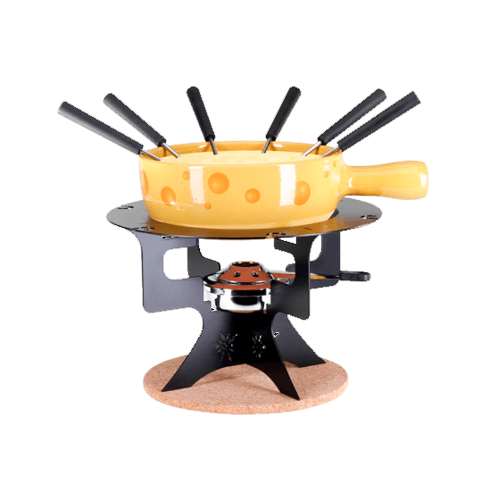 """Набор для сырного фондю из 11 предметов """"Mini Fondue Bar Edelweiss Formaggio"""""""