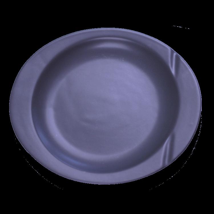 Тарелка для фондю (черная матовая) 25 х 22 х 2,5 см