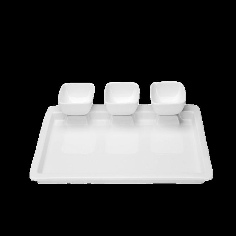 """Тарелка для мясного фондю """"Peru"""", белая"""