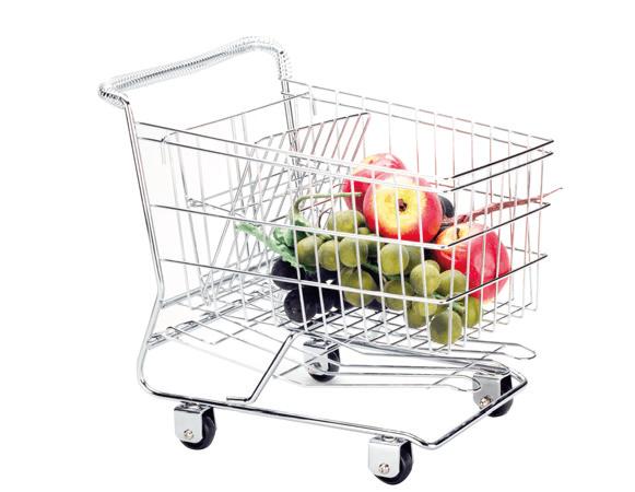 """Ваза для фруктов из нержавеющей стали """"Caddie"""" большая 29x19x29cm"""
