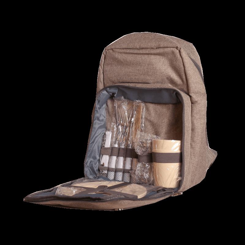 "Рюкзак для пикника, набор на 2 персоны из 13 предметов ""Raclette"" beige"