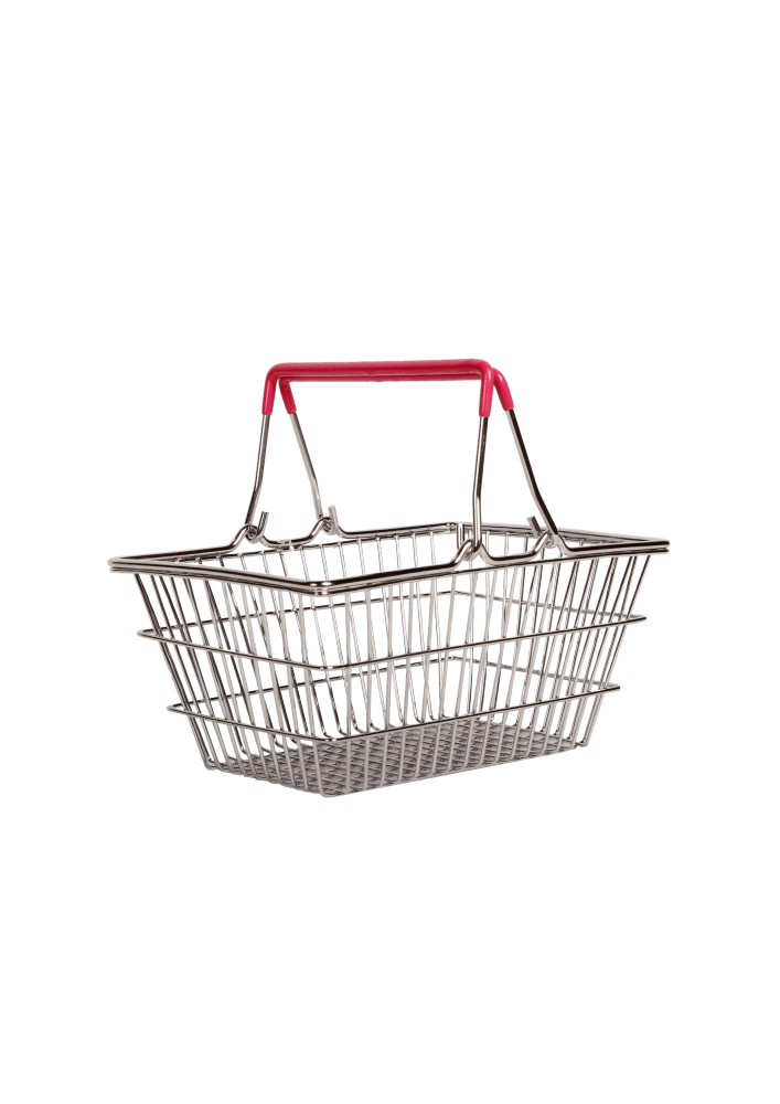 "Корзинка для фруктов хромированная ""Basket"" розовая 23x15,5x8,3cm"