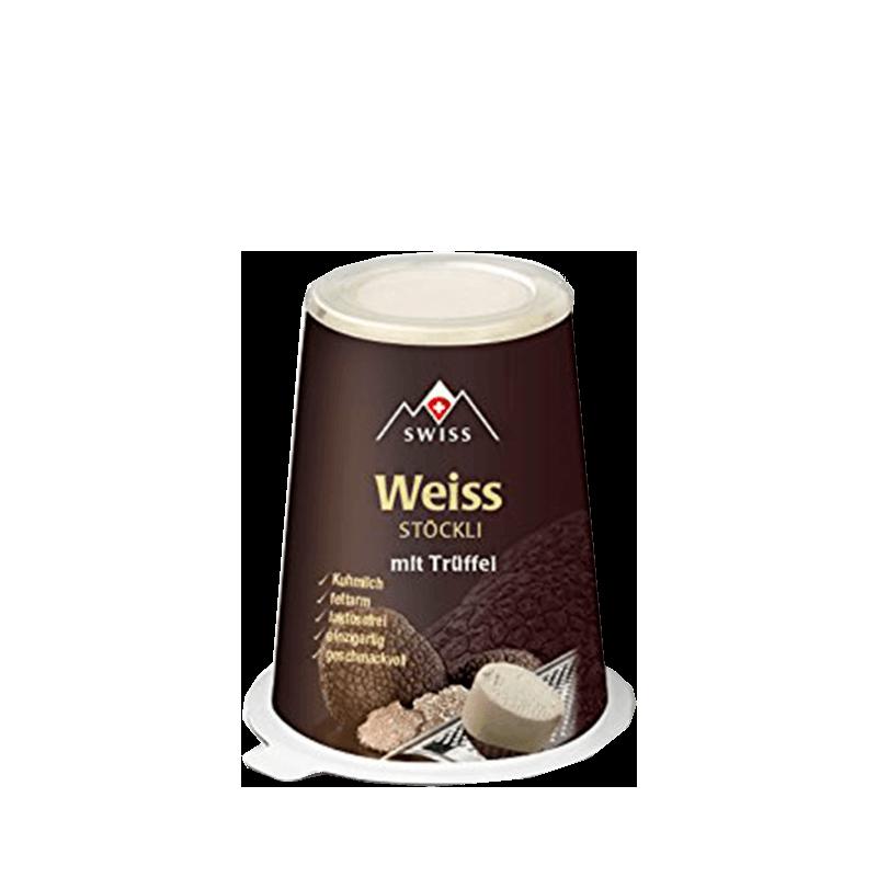 Weiss Stöckli mit Trüffelder raffinierte Würzkäse