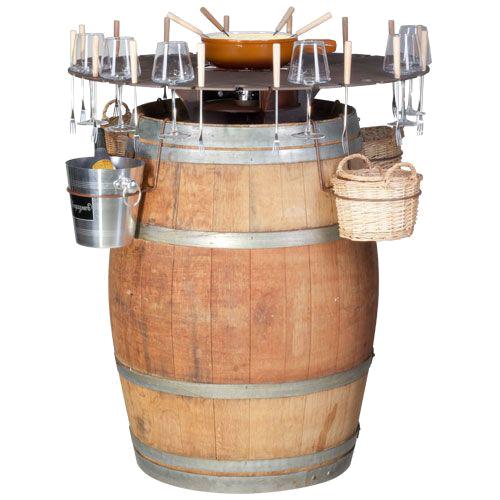 Бочка-бар для фондю и вина 92x92x105cm