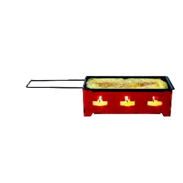 """Мини-раклетница на 4 свечи """"CH-Kreuz"""" красная"""